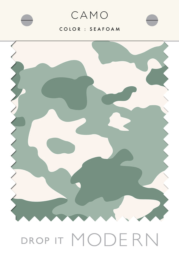 Fabric by the yard : Camo© // Seafoam