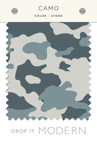 Fabric by the yard : Camo© // Stone