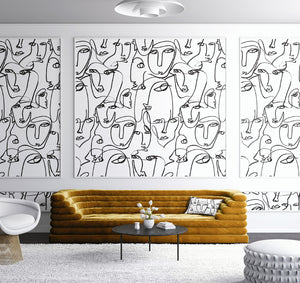 Wallpaper : Femme© Mural// Black + White