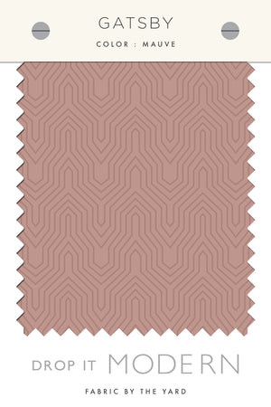 Fabric by the yard : gatsby© // mauve
