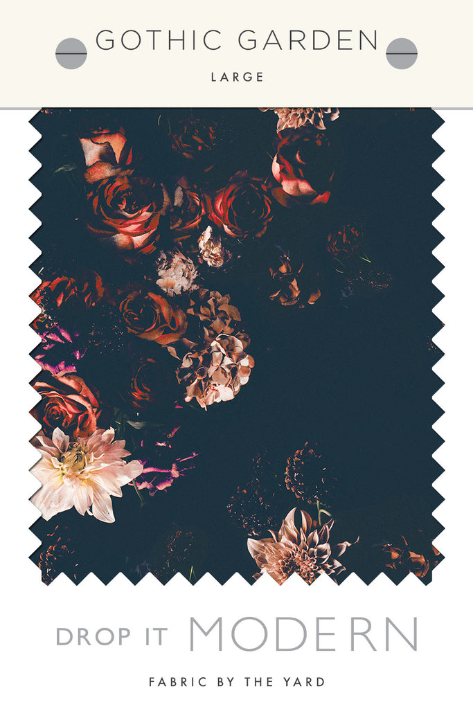 Bon Fabric By The Yard : Gothic Garden© // Large