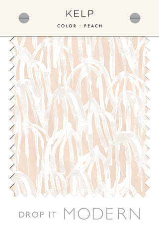 Fabric by the yard : Kelp© // Peach