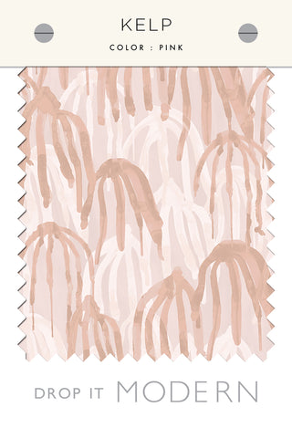 Fabric by the yard : Kelp© // Pink