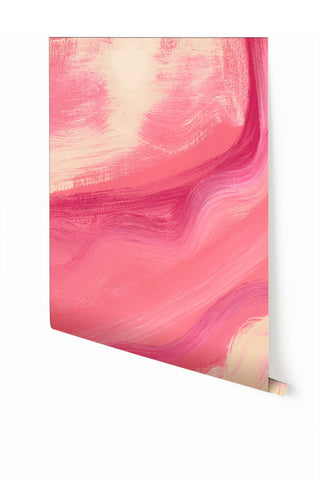 Wallpaper : Modern Art© Mural // Fuchsia