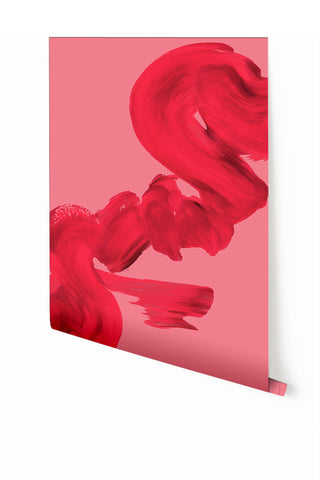 Wallpaper : Abstract Art #3© Mural // Fuchsia