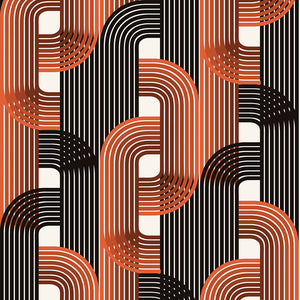 Fabric by the yard : Raceway© // Burnt Orange