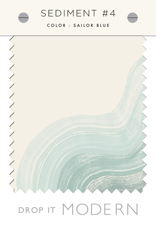 Fabric by the yard : Sediment #4© // Blue + Creme