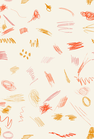 Fabric by the yard : Scribble© // Summer