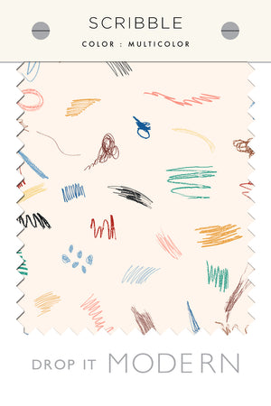 Fabric by the yard : Scribble© // Multicolor
