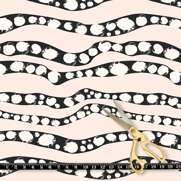Fabric by the yard : Serpent© // Black