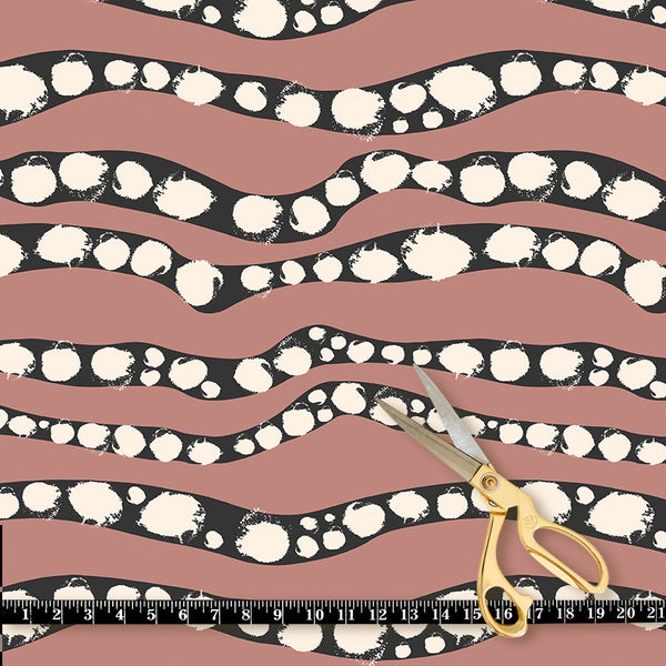 Fabric by the yard : Serpent© // Salmon