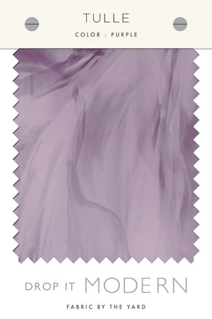 Fabric by the yard : Tulle© // Purple