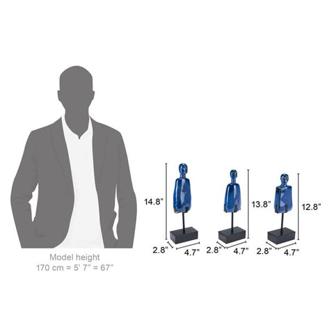 Blue Men (Set of 3)
