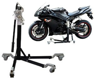 Motorbike Riser Stand - Lift Both Wheels off the Ground ONE Person Use