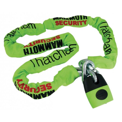 Mammoth Security Chain Thatcham Approved 12mm thick 1.8M Long BikeIT