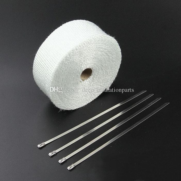 Exhaust Heat Bandage 50mm x 5m inc x4 Stainless Steel Tie Wraps