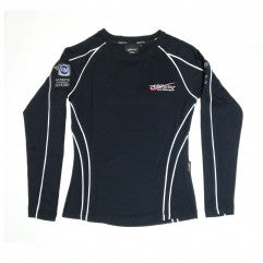 GB Racing Ladies Long Sleeve T Shirt - BLACK