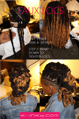 How to care for loc extensions human hair khinky attaching your loc is simple enough to do on your own or with a loved one or favorite stylist your loc should come out like youve had them for years and pmusecretfo Images