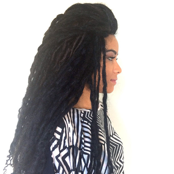 GODDESS FAUX LOC EXTENSIONS  FULL SET (HUMAN HAIR 100 LOCS)