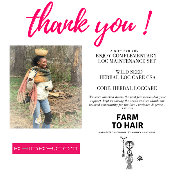 FARM TO HAIR  -FREE Loc Care Maintenance Sample Set Community Supported Apothecary
