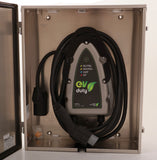 Aluminum outdoor locker for EVDUTY charging station