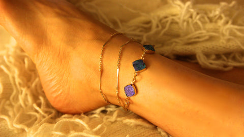 Blue Galaxies Anklet