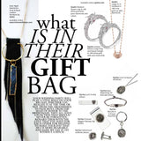 "WORLD BRIDE Magazine feature ""Date Night"" Gemstone 14KT Gold Necklace"