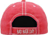 Distressed Patch Baseball Cap - Bad Hair Day (Coral)