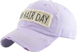 Distressed Patch Baseball Cap - Bad Hair Day (Lavender)