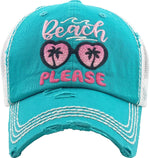 Distressed Patch Hat - Beach Please