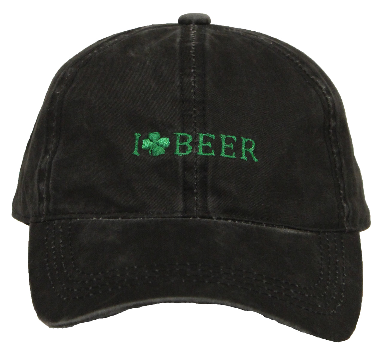 St. Patrick's Day Party Cap - I Love Beer (Black)
