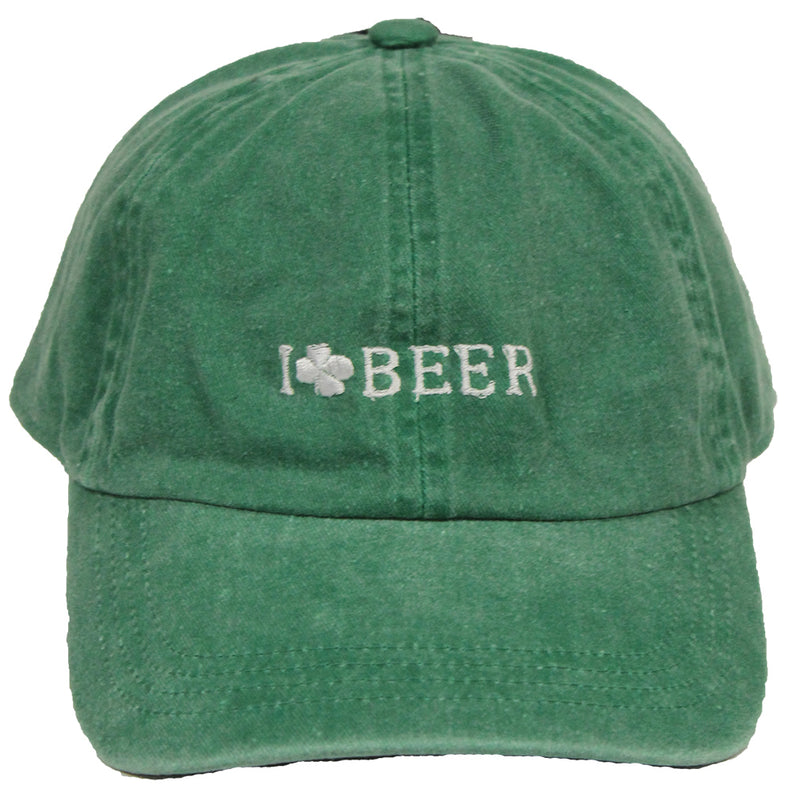 St. Patrick's Day Party Cap - I Love Beer (Green)