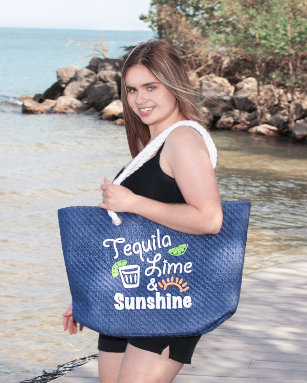 Beach Tote - Tequila, Lime, Sunshine