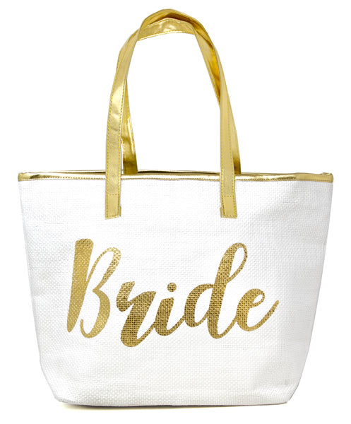 TOTE BAG - Bride - White/Gold