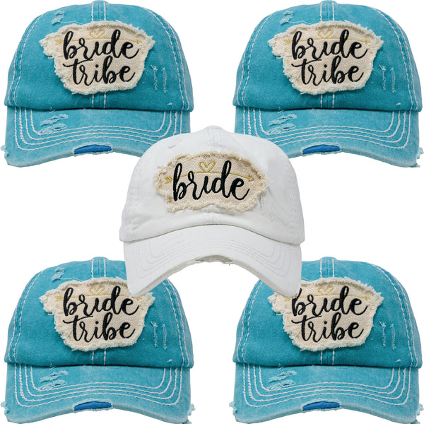 Bundle: 1 Bride, 4 Bride Tribe (Teal)