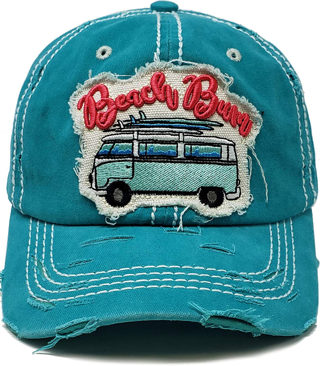 Distressed Baseball Cap - Beach Bum