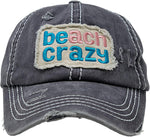 Distressed Baseball Cap - Beach Crazy