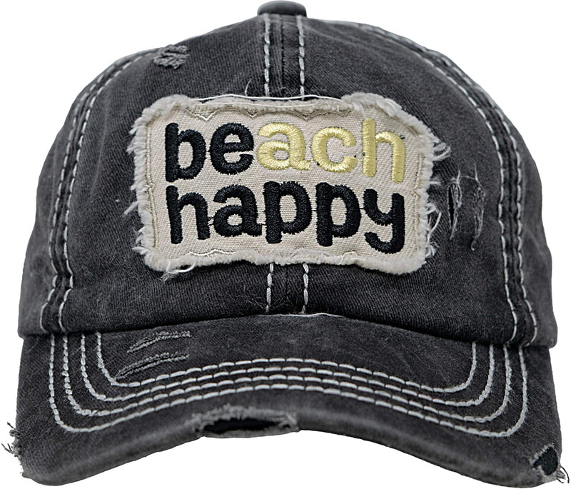 Distressed Baseball Cap - Beach Happy