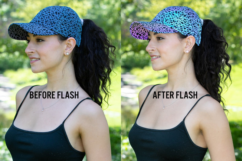 Backless Ponycap - Reflective/Abstract Design