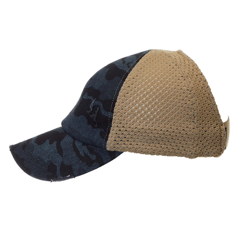 Backless Ponycap - Camo