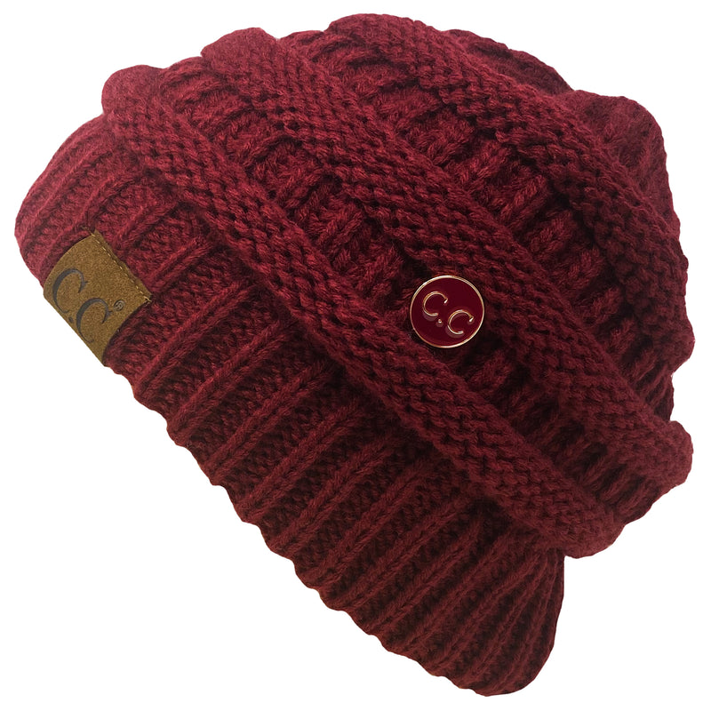 C.C Slouchy Side Button Beanie