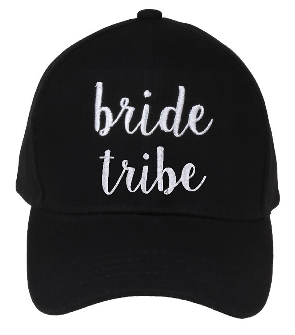C.C Embroidered Baseball Cap - Bride Tribe (Black)