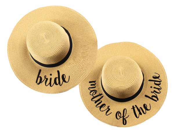 C.C Embroidered Sun Hat Duo - Bride & Mother of the Bride