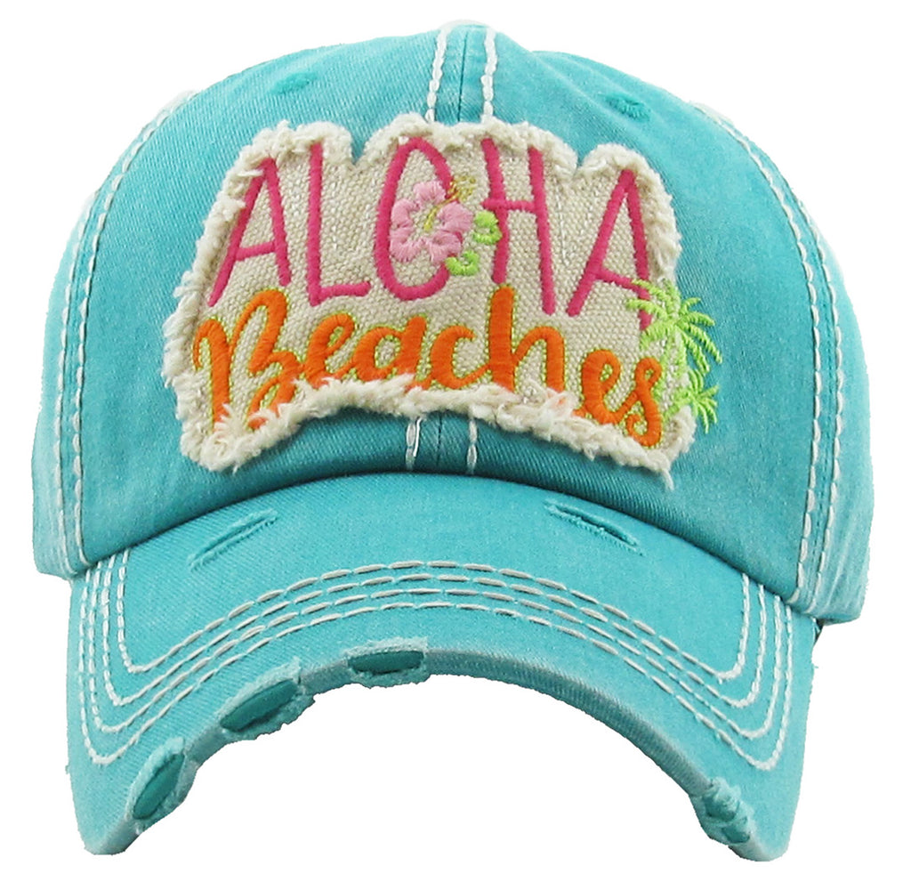 Distressed Patch Hat - Aloha Beaches