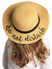 C.C Girls Embroidered Sun Hat - Do Not Disturb (Natural)