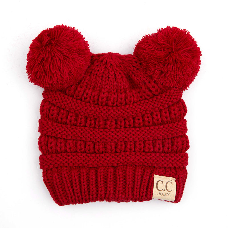 C.C. Baby/Infant Double Pom Beanie