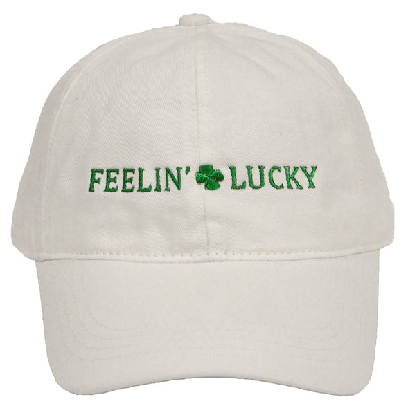 St. Patrick's Day Party Cap - Feelin' Lucky (White)