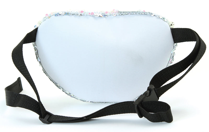 Fanny Pack - Sequin White & Pink