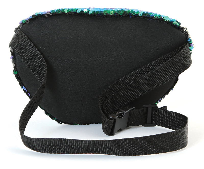 Fanny Pack - Sequin Black & Green