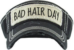 Distressed Visor - Bad Hair Day (Black)